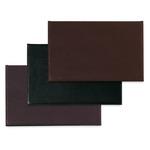 Sottomani doppio in similpelle - marrone scuro - 48 x 32cm - Niji Italiana