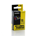 Nastro - 18 mm x 8 mt - nero/giallo - Casio