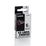 Nastro casio 6mm x 8mt nero su bianco