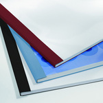 Cartelline termiche Business Line - 6 mm - leather bianco - GBC - scatola 100 pezzi