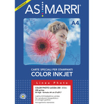 Carta fotografica Inkjet - A4 - 200 gr - effetto lucido - bianco - As Marri - conf. 50 fogli