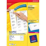 Etichette bianche ecologiche QuickPeel™ per indirizzi