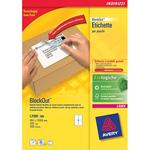 Etichette bianche BlockOut™ per pacchi - FSC