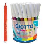 Astuccio 48 pennarelli Turbomaxi - colori assortiti - Giotto