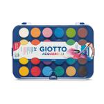Acquerelli - ø30mm - colori assortiti - Giotto - Astuccio da 24 pastiglie