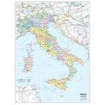 Cartina politica italia e geografica murale fisica