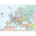 Carta geografica murale fisica e politica EUROPA