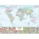Carta geografica murale fisica e politica MONDO