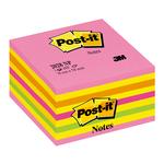Blocco foglietti Cubo - 76 x 76mm - rosa neon, giallo neon, arancio neon, rosa ultra, verde neon - 450 fogli - Post It
