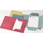 Cartelline 3 lembi - senza stampa - cartoncino Manilla 200 gr - 25x33 cm - verde - Cartotecnica del Garda - conf. 50 pezzi