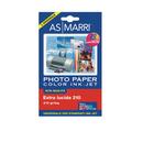 Carta fotografica Inkjet - A6 - 210 gr - effetto extra lucido - bianco - As Marri - conf. 20 fogli
