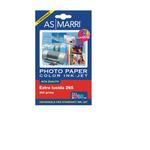 Carta fotografica Inkjet - A6 - 10 x 15cm - 265gr - effetto extra lucido - As Marri - conf. 20fg