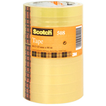 Nastro adesivo Scotch® 508 - 15 mm x 66 mt - trasparente - Scotch® -  torre 10 rotoli