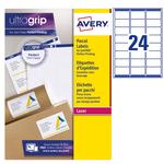 Etichetta adesiva L7165 - permanente - 99,1x67,7 mm - 8 etichette per foglio - bianco - Avery - conf. 100 fogli A4