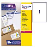 Etichetta adesiva L7167 - permanente - 199,6x289,1 mm - 1 etichetta per foglio - bianco - Avery - conf. 100 fogli A4