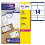 Etichetta adesiva L7173 - permanente - 99,1x57 mm - 10 etichette per foglio - bianco - Avery - conf. 100 fogli A4