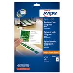 Biglietti da visita - 85 x 54mm - 200gr - effetto opaco - 10 biglietti - Avery - conf. 25fg