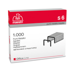 Punti S6 - 23/6 - acciaio - metallo - Romeo Maestri - conf. 1000 pezzi
