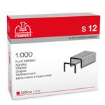 Punti S12 - 23/12 - acciaio - metallo - Romeo Maestri - conf. 1000 pezzi
