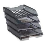 Vaschetta portacorrispondenza forata E040 - 26x34,5x6,5 cm - fumè trasparente - Fellowes