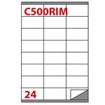 Etichetta adesiva rimovibile C500 - permanente - 70x36 mm - 24 etichette per foglio - bianco - Markin - scatola 100 fogli A4