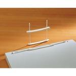 Fastener fermafogli - plastica - passo 80 mm - capacità 6 cm - bianco - Fellowes - conf. 12 pezzi