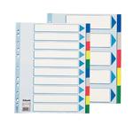 Separatore - 10 tasti colorati - PP - A4 maxi - 24.5x29.7 cm - Esselte