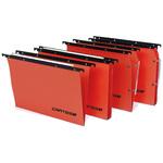 Cartella sospesa Cartesio Plus - cassetto - interasse 39 cm - fondo U 30 mm - 37x25 cm -  arancio - Bertesi
