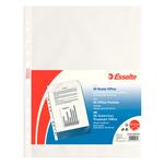 Buste forate CopySafe - Office - buccia - 22x30 cm - trasparente - Esselte - conf. 50 pezzi
