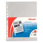 Buste forate CopySafe - DeLuxe - buccia - 22x30 cm - trasparente - Esselte - conf. 50 pezzi