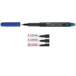 Pennarello Multimark universale permanente con gomma  - punta fine 0,6mm - blu - Faber Castell