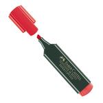 Evidenziatore Textliner 48 -  punta di 3 differenti larghezze: 5,0-3,0-1,0mm - rosso - Faber Castell