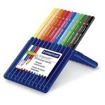 Ergosoft - triangolari - colori assortiti - Staedtler - Astuccio 12 pastelli colorati