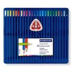 Ergosoft - triangolari - colori assortiti - Staedtler - Astuccio 24 pastelli colorati
