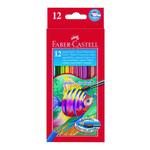 Acquerellabili Red pastelli colorati - mina Ø 3,30mm - colori assortiti - Faber Castell - Astuccio 12 pastelli colorati