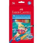 Acquerellabili Red pastelli colorati - mina Ø 3,30mm - colori assortiti - Faber Castell - Astuccio 36 pastelli colorati