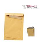 Busta a sacco avana - serie Largemail - soffietti laterali - strip adesivo - 300x400x40 mm - 120 gr - Pigna - conf. 250 pezzi