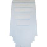 Buste a sacco bianche con strip in pacchettini
