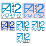 Blocco F2 - 240x330mm - 20fg - 110gr - liscio - squadrato - 4 angoli - Fabriano