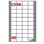 Etichetta adesiva C548 - permanente - 45x29,7 mm - 40 etichette per foglio - bianco - Markin - scatola 100 fogli A4