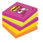 Blocco foglietti Post It Super Sticky - colore Cape Town - 76 x 76mm - 90 fogli - Post It