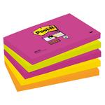 Blocco foglietti Post It Super Sticky - colore Cape Town - 76 x 127mm - 90 fogli - Post It
