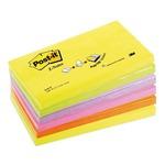 Blocco Post It Super Sticky Z Notes - assortiti neon - 76 x 127mm - 100 fogli - Post It