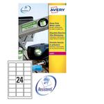 Poliestere adesivo l4773 bianco 20fg A4 63,5x33,9mm (24et/fg) laser avery