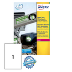 Poliestere adesivo l4775 bianco 20fg A4 210x297mm (1et/fg) laser avery
