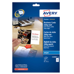 Biglietti da visita - 85 x 54mm - 260gr - effetto tela lino - 8 biglietti - Avery - conf. 10fg