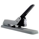 Cucitrice da tavolo Leone 130 - braccio lungo - capacità massima 180 fogli - grigio/nero - Arké