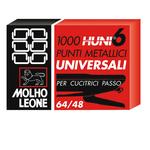 Punti universali - 6/4 - metallo - Molho Leone - conf. 1000 pezzi