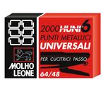 Punti universali - 6/4 - metallo - Molho Leone - conf. 2000 pezzi