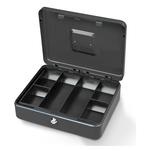 Cassetta portavalori Secur - 25x18x9 cm - grigio chiaro - Metalplus
